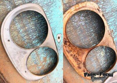 The rear of the headlamp bezels